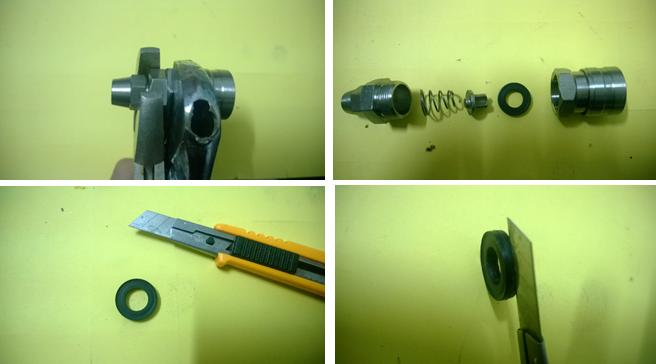 """水管清洗机使用过程中出现""""脉冲输出口""""会漏水?"""