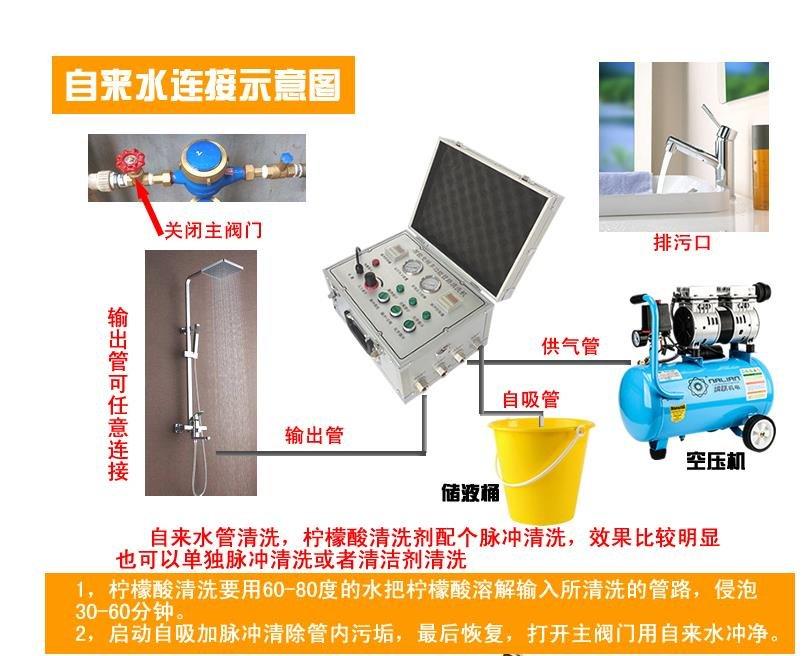 奥丹洛水管清洗机如何安装操作?清洗教程